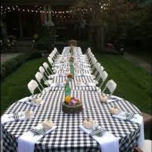 FALL Harvest Celebrate Round Gingham Tablecloth
